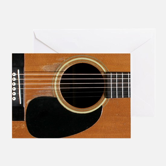 Old, Acoustic Guitar Greeting Card
