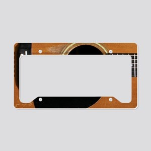 Old, Acoustic Guitar License Plate Holder