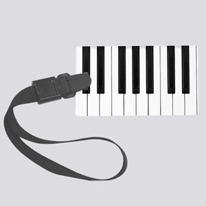 Piano Keys Large Luggage Tag