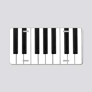 Piano Keys Aluminum License Plate
