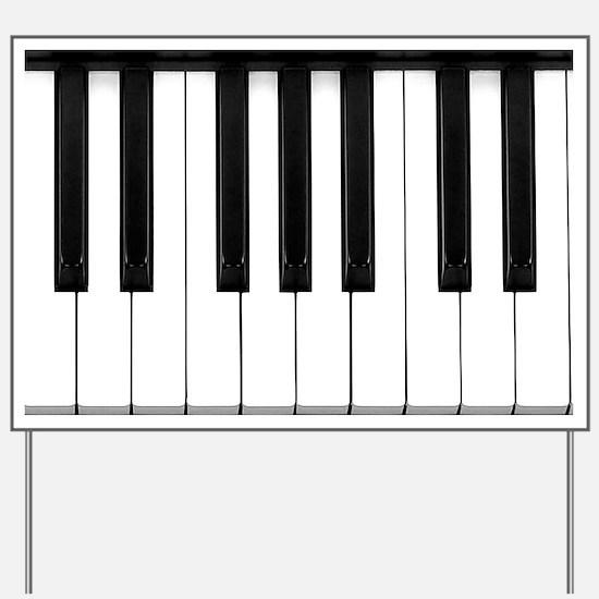 Piano Keys Yard Sign