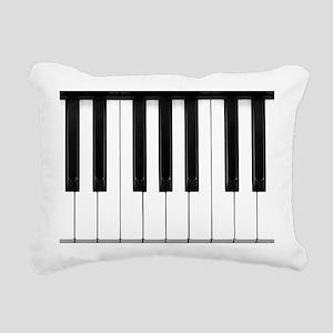 Piano Keys Rectangular Canvas Pillow