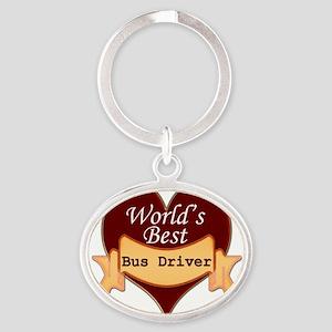 Worlds Best Bus Driver Oval Keychain
