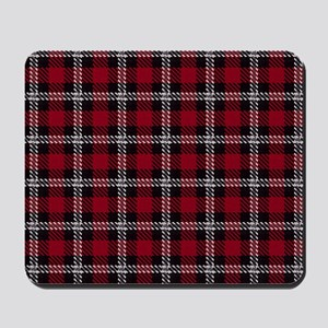 Vintage, Red Plaid, Mousepad