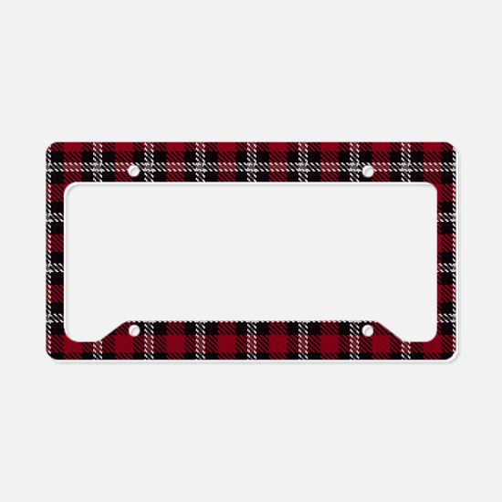 Vintage, Red Plaid, License Plate Holder