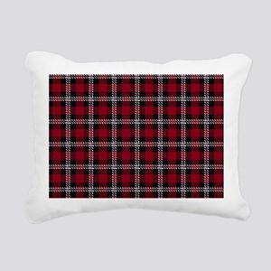 Vintage, Red Plaid, Rectangular Canvas Pillow