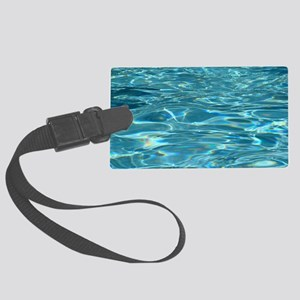 Crystal Clear Water Large Luggage Tag