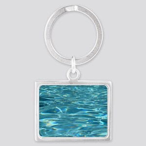 Crystal Clear Water Landscape Keychain