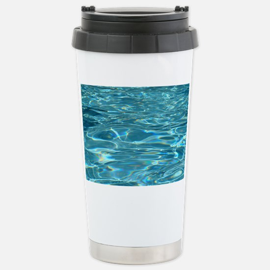 Crystal Clear Water Stainless Steel Travel Mug