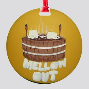 Mellow Out Round Ornament