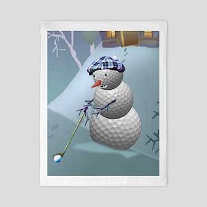 Golf Ball Snowman Twin Duvet