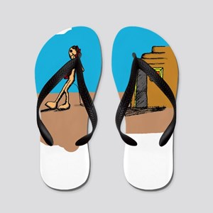 Rock and Roll Home Flip Flops