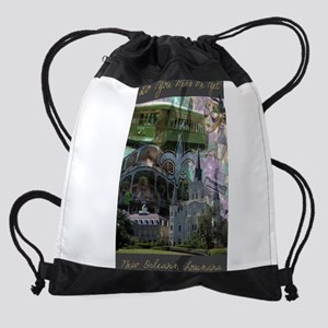 New Orleans collage Drawstring Bag