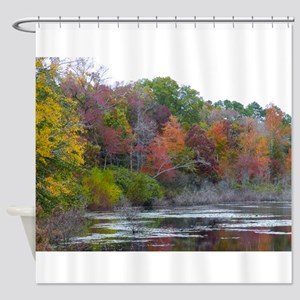 Pond In The Fall Shower Curtain