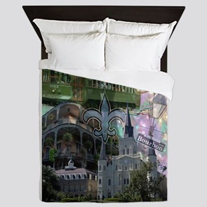 New Orleans collage Queen Duvet