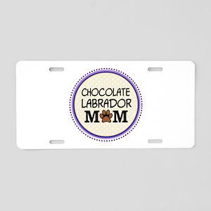 Chocolate Labrador Dog Mom Aluminum License Plate