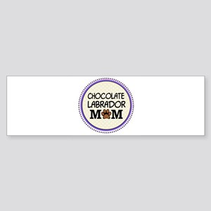 Chocolate Labrador Dog Mom Bumper Sticker