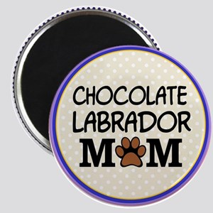 Chocolate Labrador Dog Mom Magnets