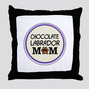 Chocolate Labrador Dog Mom Throw Pillow