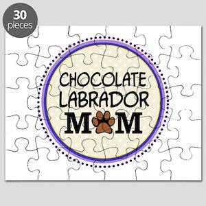 Chocolate Labrador Dog Mom Puzzle