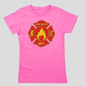 Fahrenheit 451 - Fire Deptt. red Girl's Tee