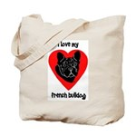 Frenchie Love 2 Tote Bag