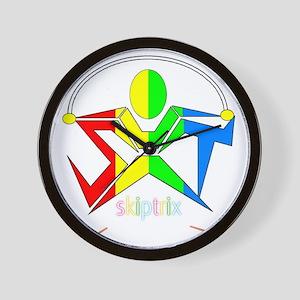 SXT LOGO - DARK B/GROUND Wall Clock