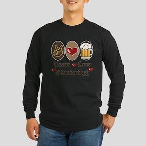 Peace Love Oktoberfest Long Sleeve T-Shirt