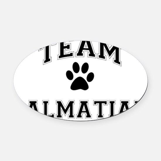Team Dalmatian Oval Car Magnet