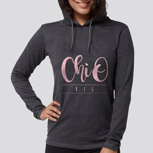 Chi Omega Big Womens Hooded Shirt