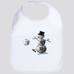 Soccer Christmas Snowman Bib