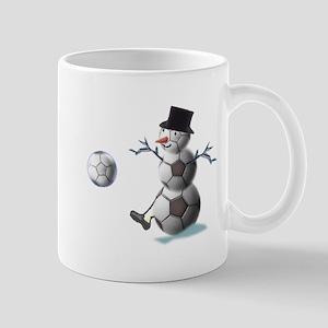 Soccer Christmas Snowman Mug