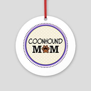 Coonhound Dog Mom Ornament (Round)