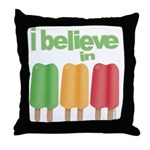 I believe in Ices! Throw Pillow