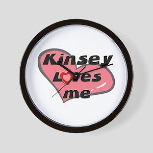 kinsey loves me  Wall Clock
