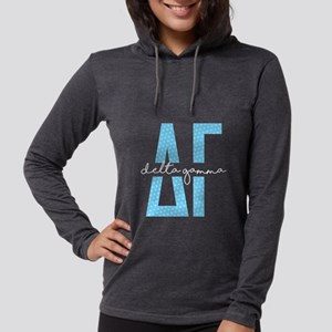 Delta Gamma Polka Dots Womens Hooded Shirt