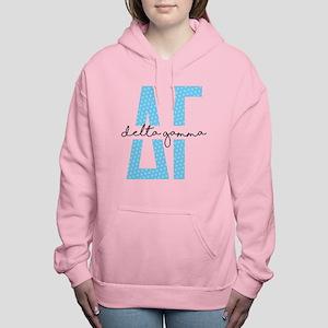 Delta Gamma Polka Dots Women's Hooded Sweatshirt