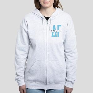 Delta Gamma Polka Dots Women's Zip Hoodie