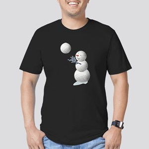 Volleyball Snowman Christmas Men's Fitted T-Shirt