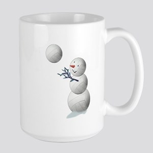 Volleyball Snowman Christmas Large Mug