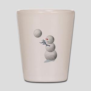 Volleyball Snowman Christmas Shot Glass