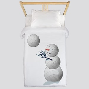Volleyball Snowman Christmas Twin Duvet