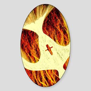 Spirit on Fire Sticker (Oval)