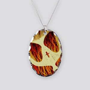 Spirit on Fire Necklace Oval Charm