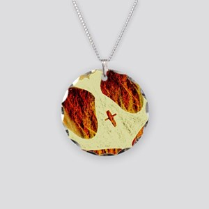 Spirit on Fire Necklace Circle Charm