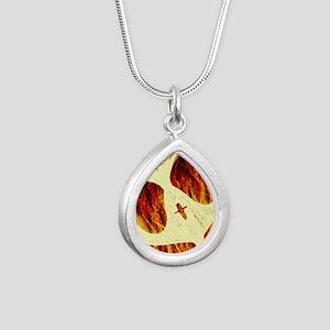 Spirit on Fire Silver Teardrop Necklace