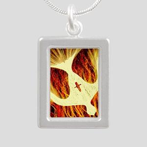 Spirit on Fire Silver Portrait Necklace