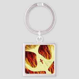 Spirit on Fire Square Keychain
