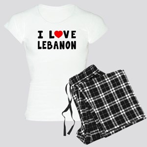 I Love Lebanon Women's Light Pajamas