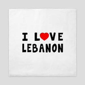 I Love Lebanon Queen Duvet